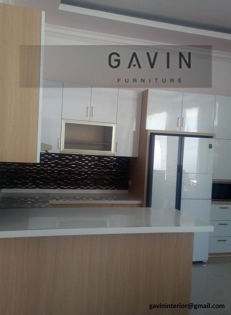 lemari dapur atas bawah hpl glossy di ternate