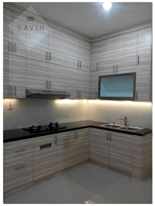 lemari dapur atas full plafon