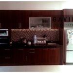 lemari dapur kitchen set bentuk i