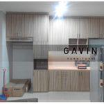 lemari dapur minimalis hpl letter i