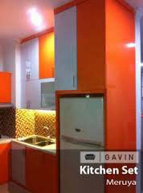 kitchen set minimalis kombinasi warna