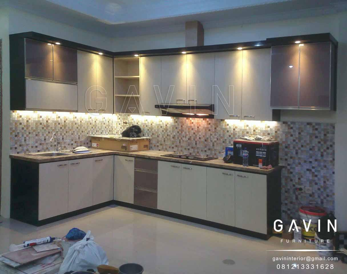 kitchen set minimalis letter L | LemariDapur.net