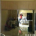 lemari sliding 3 pintu kaca by gavin