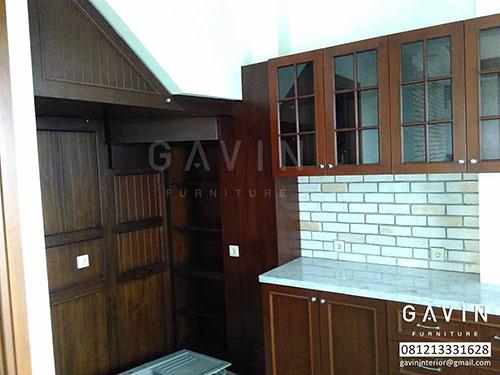 harga lemari dapur kayu solid jati gavin furniture