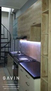 pembuatan lemari dapur model minimalis