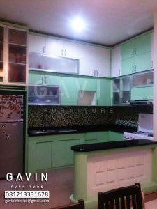 buat lemari dapur model minimalis dengan minibar