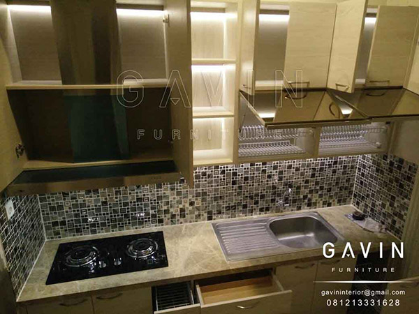 dapur kotor minimalis modern model custom