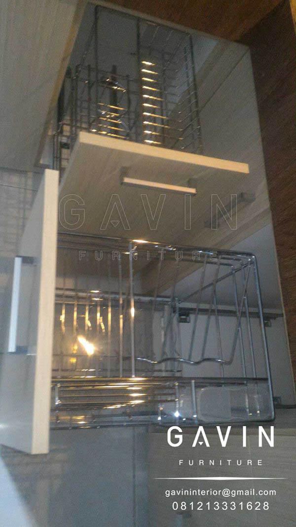 model rak piring lemari dapur model tarik