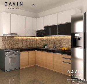 contoh design lemari dapur model minimalis modern project di BSD Q2899