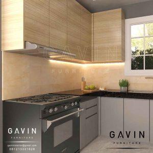 jual lemari dapur minimalis modern finishing hpl Q2906
