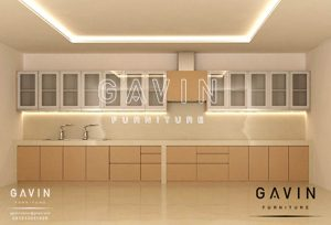 kabinet dapur pintu kaca design minimalis by gavin furniture