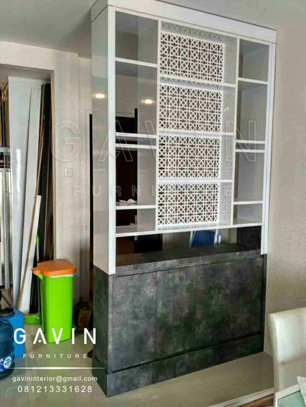 pembuatan partisi custom by Gavin Furniture