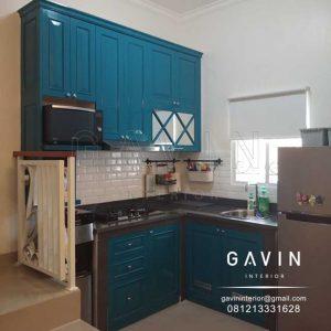 buat kitchen set klasik hijau tosca finishing duco semi klasik semi glossy di jagakarsa Q3169