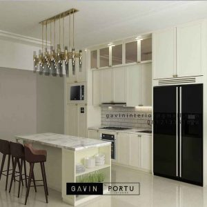 Kitchen set american style finishing cat duco warna putih ID4479