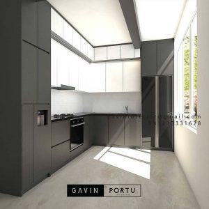 Kitchen set minimalis Kombinasi warna ID4585PT
