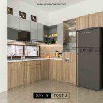 design kitchen set minimalis bentuk l Gavin by Portu id3564