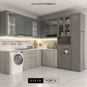 Kitchen set leter L kombinasi finishing HPL