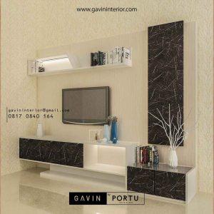 Gambar backdrop tv custom model minimalis kombinasi warna
