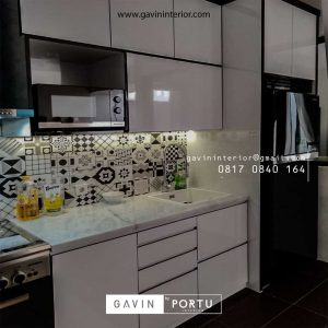 Bikin Kitchen Set HPL Warna Putih Project Discovery Serenity Pondok Aren Tangerang id4362