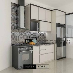 Kitchen Set HPL Warna Putih Project Discovery Serenity Pondok Aren Tangerang id4362
