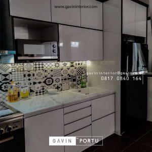 Kitchen Set Warna Putih Klien di Pondok Aren Tangerang id4362