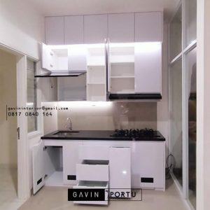 Jasa Buat Kitchen Set Minimalis Putih Cluster Kiara Payung Larangan Utara Tangerang Id4861P