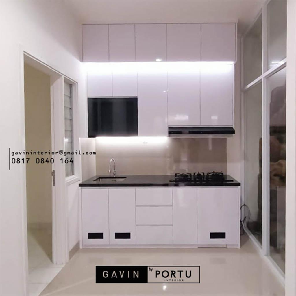 Kitchen Set Minimalis Putih Cluster Kiara Payung Larangan Utara Tangerang Id4861P