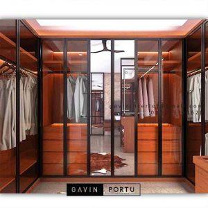 Desain minimalis walk in closet custom ID4698T