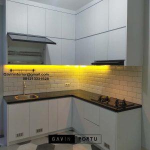 Jual Kitchen Set HPL Putih Perumahan Villa Rizki Ilhami Kelapa Dua Tangerang Id4823
