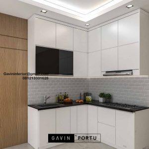 Kitchen Set HPL Putih Perumahan Villa Rizki Ilhami Kelapa Dua Tangerang Id4823