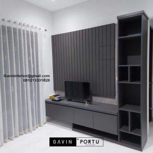 Harga Backdrop TV Mewah Minimalis Grey Perumahan Dukuh Bima Kota Legenda Tambun Bekasi ID4855