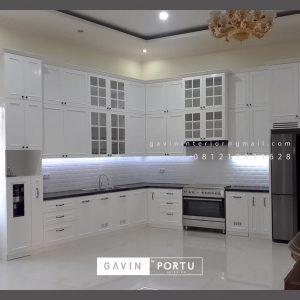 Jual Kitchen Set Semi Klasik Putih Kampung Parung Cikasungka Solear Tangerang Banten ID4991P