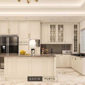 Design Kitchen Set Klasik Putih Doff Cluster Violin Golf Island Pik Penjaringan ID4969P
