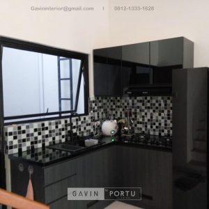 Jual Kitchen Set Motif Kayu Hitam Kompleks Elysian Residence Pasar Minggu Jakarta Selatan ID4852P