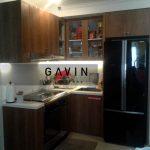 kitchen set lemari dapur minimalis warna coklat