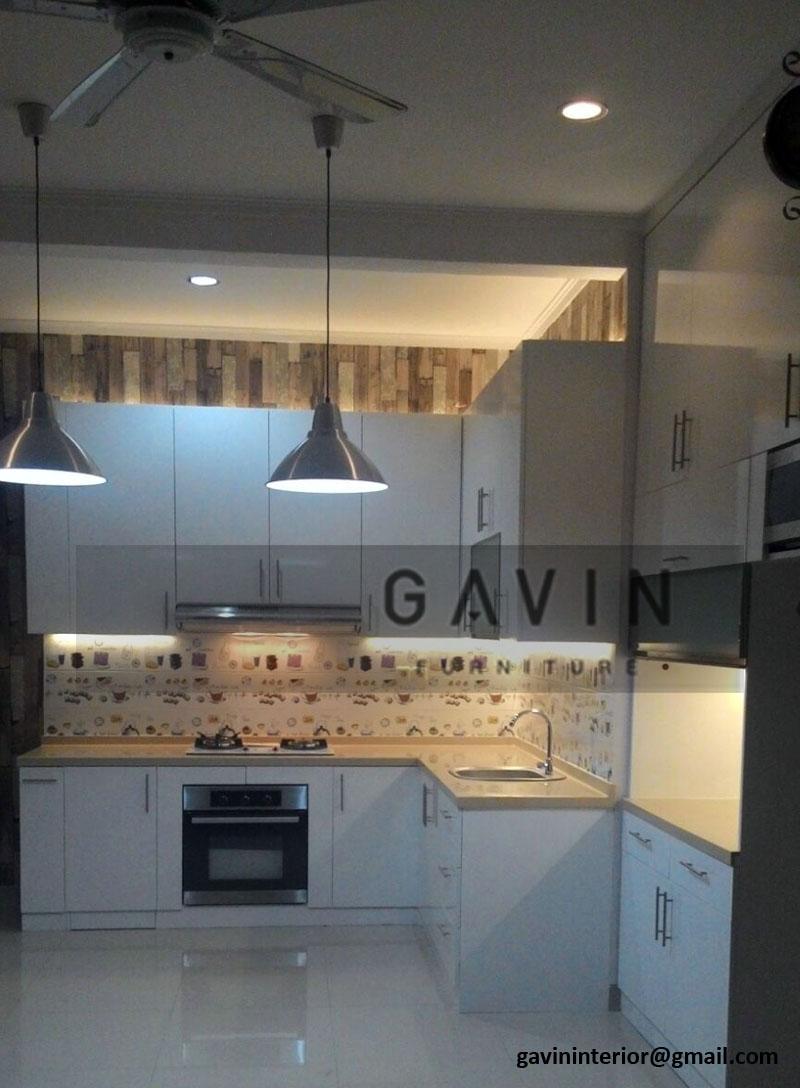 lemari dapur  minimalis  warna  putih hpl LemariDapur net