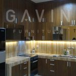 kitchen set minimalis full plafon finishing hpl