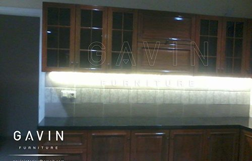 lemari dapur kayu solid desain custom by gavin