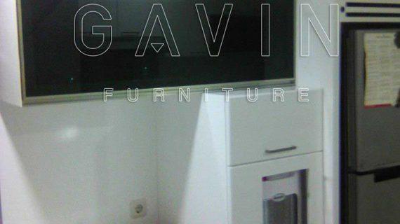 lemari gantung dapur kombinasi kaca
