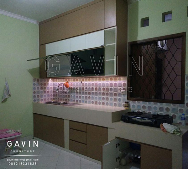 design lemari dapur minimalis letter i