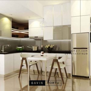 Kitchen set minimalis warna putih ID4514T