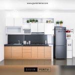 design kitchen set minimalis bentuk i id3488