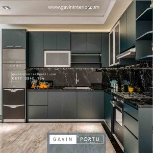 Desing kitchen set hpl model minimalis