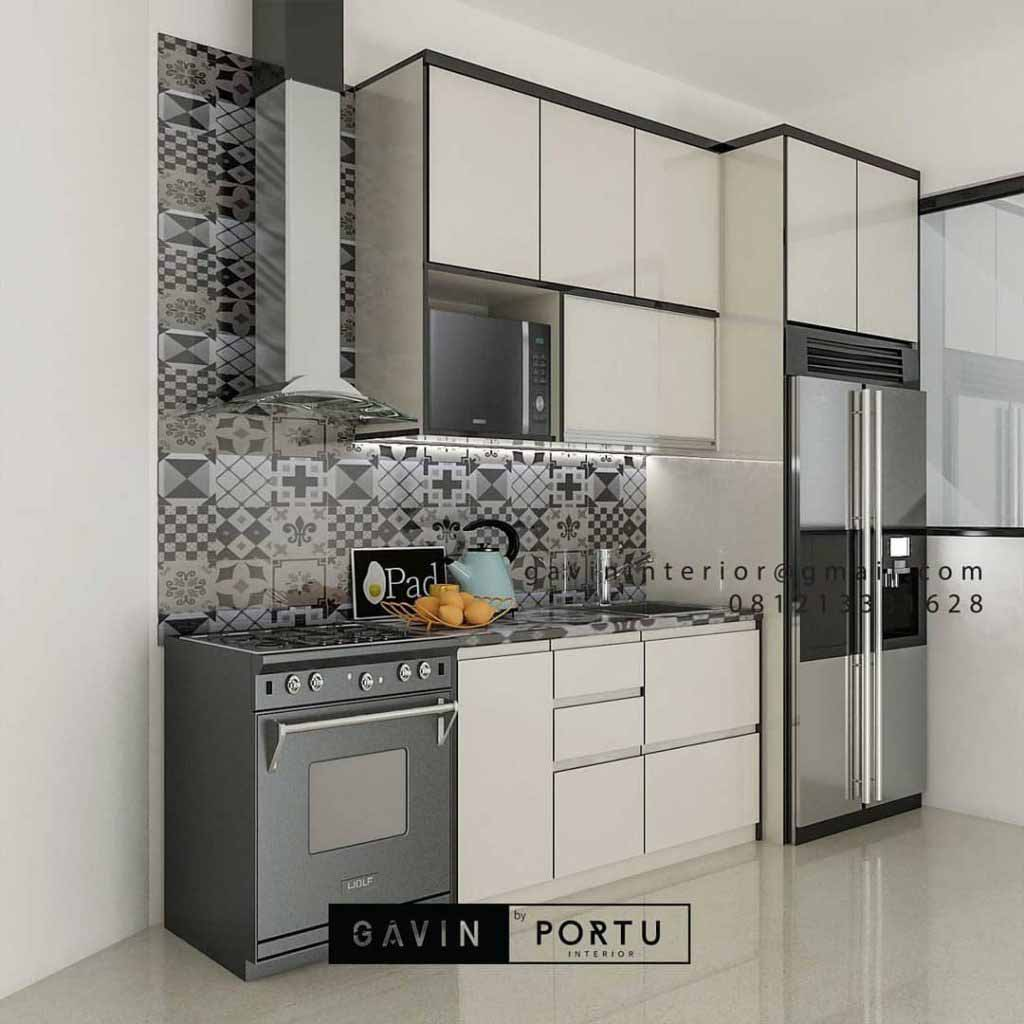 Kitchen Set HPL Warna Putih Project Discovery Serenity Pondok Aren Tangerang id4362