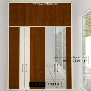 Lemari Pakaian Minimalis Motif Kayu Pisangan Timur Pulo gadung Jakarta ID3990