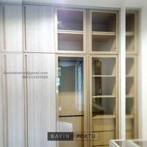 Custom Walk In Closet Minimalis Motif Kayu Alam Asri Pondok Indah Kebayoran lama Id4934PT