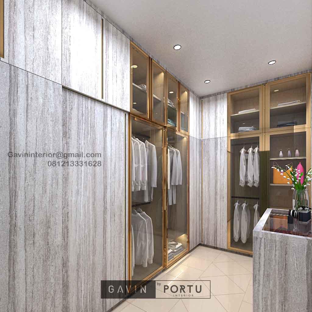 Walk In Closet Minimalis Motif Kayu Alam Asri Pondok Indah Kebayoran lama Id4934PT