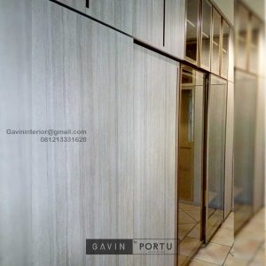 Walk In Closet Minimalis Motif Kayu Alam Asri Pondok Indah Kebayoran lama Jakarta Id4934PT