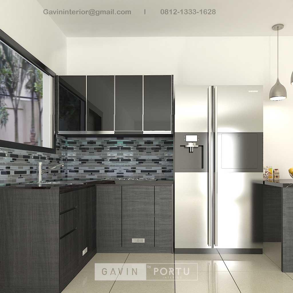 Jual Kitchen Set Motif Kayu Hitam Kompleks Elysian Residence Pasar Minggu Jakarta ID4852P